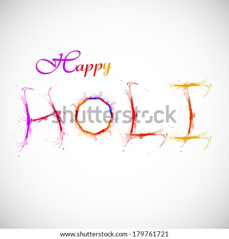 Holi splash color text with grunge colorful Illustratrion vector Stock photo © bharat