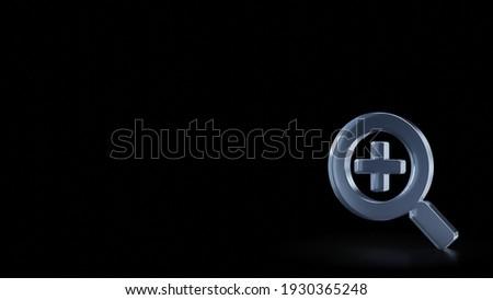 Foto stock: Pesquisar · lupa · ícone · escuro · azul · isolado