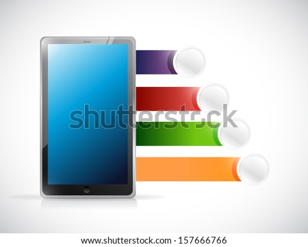 tablet diagram and space for text. illustration design over whit stock photo © alexmillos
