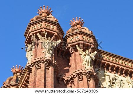 La familia catedral noite Barcelona Espanha Foto stock © Nejron