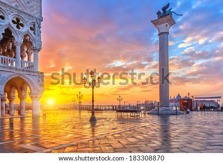 View on Piazza San Marco and Doge's Palace from San Marco Cathed Stock photo © anshar