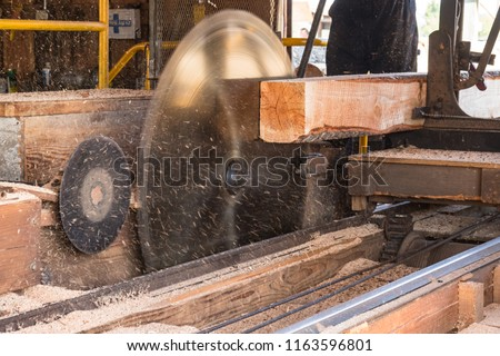 Large Timber Wood Log Lumber Processing Plant Logging Industry Stock photo © cboswell