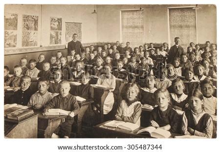 Klasszikus iskola fotó absztrakt grunge rongyos Stock fotó © SRNR