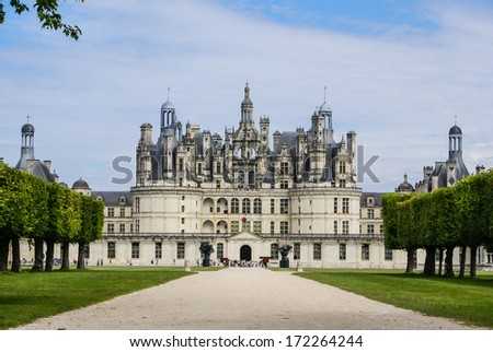 Chambord castle is located in Loir-et-Cher, France. It has a ver Stock photo © Perszing1982
