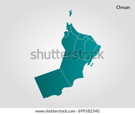 Részletes térkép Omán város zászló fekete Stock fotó © tkacchuk