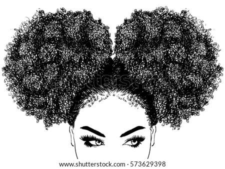 Belo jovem africano americano mulher longo saudável Foto stock © NeonShot