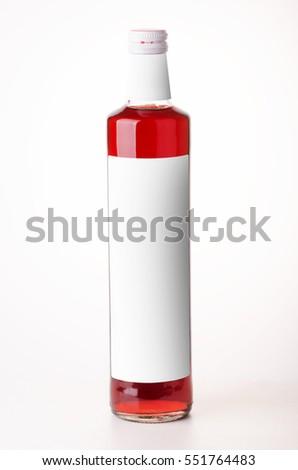 Rosso sciroppo fragola isolato bianco Foto d'archivio © tetkoren