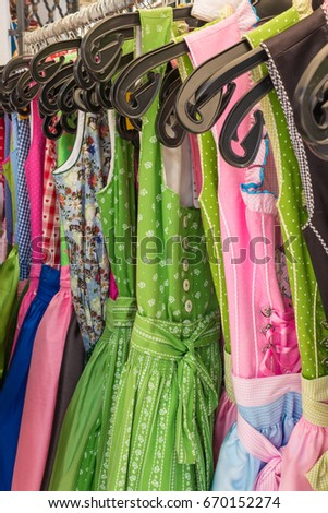 Dirndl - traditional dress worn in Germany and Austria icons set  Stock photo © RedKoala