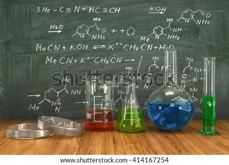 Asitler diğer kimyasallar tahta teknoloji Stok fotoğraf © tetkoren