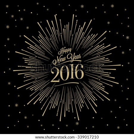 2016 Happy New Year glowing background. Vector illustration EPS 10 Stock photo © rommeo79