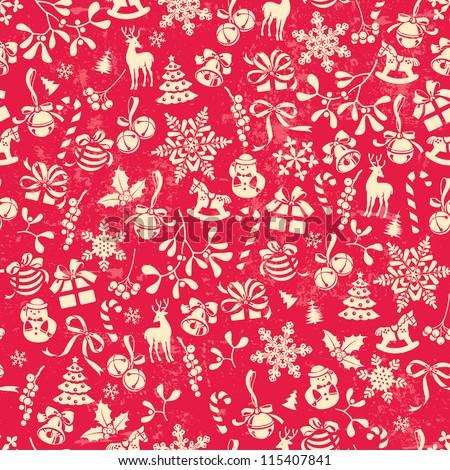 Carta da imballaggio Natale icone sottile line Foto d'archivio © rommeo79