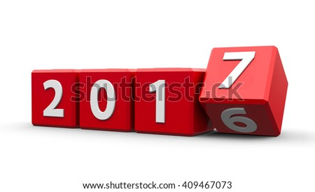 3d new year 2017 cubes changing stock photo © nasirkhan