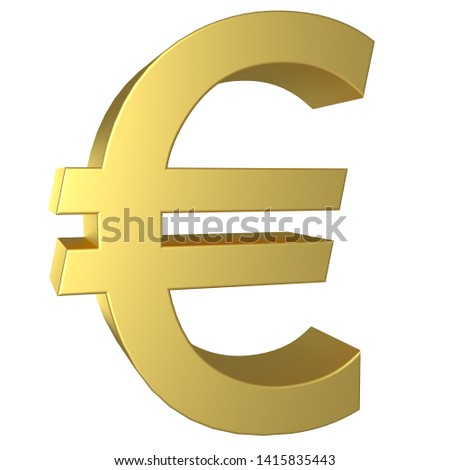 The Euro symbol as a polished golden object with clipping path Stock photo © creisinger