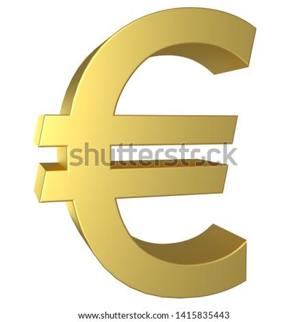 Euro símbolo polido dourado objeto Foto stock © creisinger