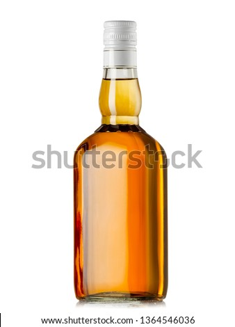 Glass brandy  bottle with screw cap, isolated on white background. stock photo © Samoilik