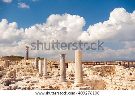the agora at kourion archaeological area limassol district cyp stock photo © kirill_m