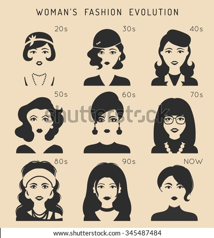 fashion and clothing icons set flat 20 vector design style with long shadow stock photo © marysan
