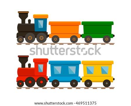 houten · speelgoed · trein · locomotief · vier · half - stockfoto © shawnhempel