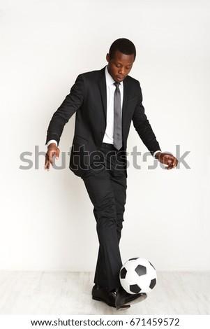 портрет · серьезный · африканских · спортивных · человека · играет - Сток-фото © deandrobot