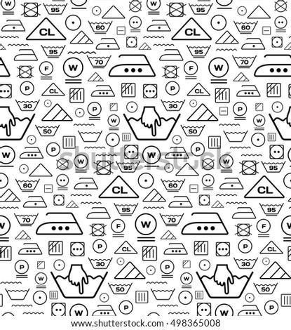 Pattern created from laundry washing symbols on a white backgrou Stock photo © m_pavlov