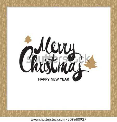 Merry Christmas lettering collection. Wishes Vector clipart with snow effect for Holiday season card stock photo © JeksonGraphics