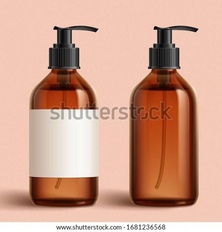 Plastikowe butelki mydło szampon etykiety odizolowany Zdjęcia stock © kayros