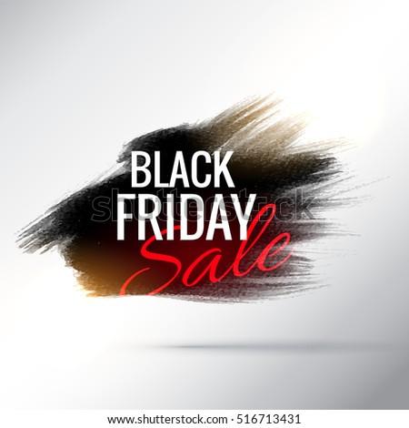 Elegante black friday venta anunciante pincel efecto Foto stock © SArts