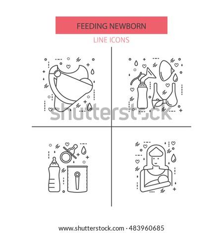 moderno · vetor · linha · ícone · peito - foto stock © Nadiinko