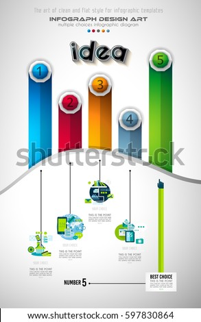 Infograph Brochure template with a lot of choices and a lot of infographic design elements and mocku Stock photo © DavidArts