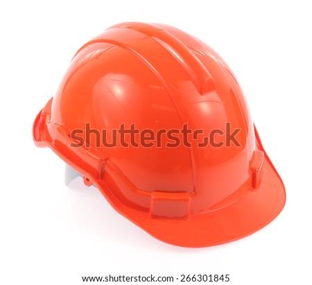 Construction orange helmet isolated. Industrial Accessory Builde Stock photo © MaryValery
