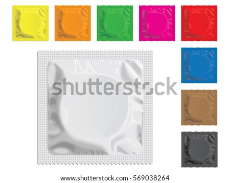 Condom packed isolated. Contraceptive on white background. Sex p Stock photo © popaukropa