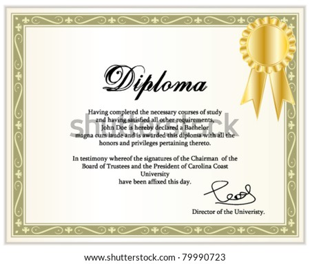 Classic guilloche border for diploma or certificate / vector/ wi Stock photo © Taiga