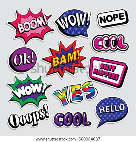 BAM! phrase in speech bubble. Comic text. Vector bubble icon spe Stock photo © pashabo