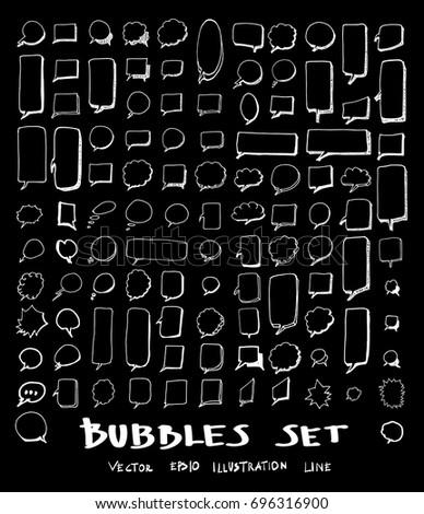 Comic black and white alphabet and speech bubble element. Halfto Stock photo © pashabo