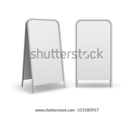 Metal Empty Blank Advertising Street Handheld Vector. Information Board Template Stock photo © pikepicture