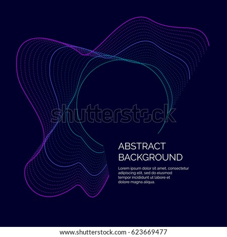 array vector with splash emitted particles round shape of visualization abstract background swi stock photo © pikepicture
