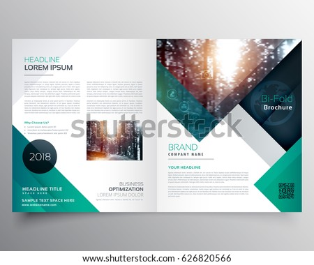 abstract creative bi fold brochure template or magazine cover pa Stock photo © SArts