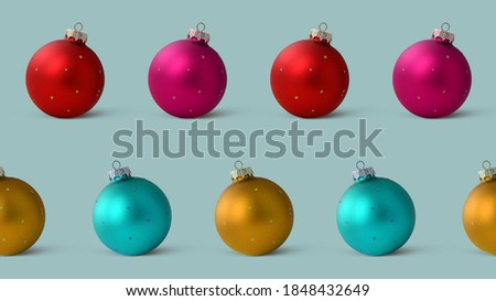 Traditional Christmas Baubles, colorful saturated home concept Stock photo © JanPietruszka