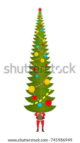 サンタクロース ビッグ クリスマスツリー 巨大な ストックフォト © popaukropa