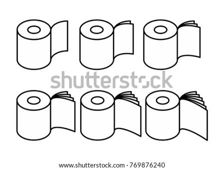 vécépapír · szett · ikon · gazdaságos · puha · gyűjtemény - stock fotó © popaukropa