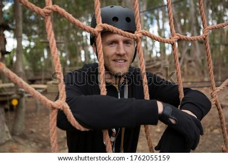 человека веревку забор Сток-фото © wavebreak_media