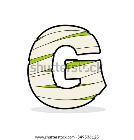 Letter G Mummy. Typography icon in bandages. Egyptian zombie tem Stock photo © popaukropa
