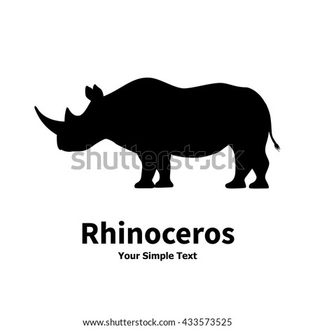 Rhino black icon. Rhinoceros silhouette symbol isolated on white background. Wild animal pictogram f Stock photo © JeksonGraphics