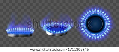 Gas Burner Vector. Kitchen oven. Isolated On Transparent Background Realistic Illustration Stock photo © pikepicture