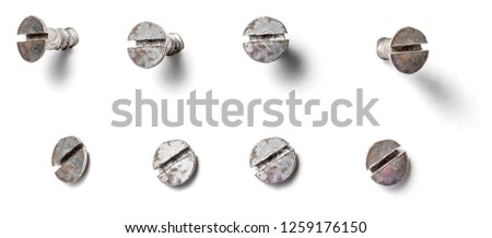 A slotted screw from different perspectives on a white backgroun Stock photo © Zerbor