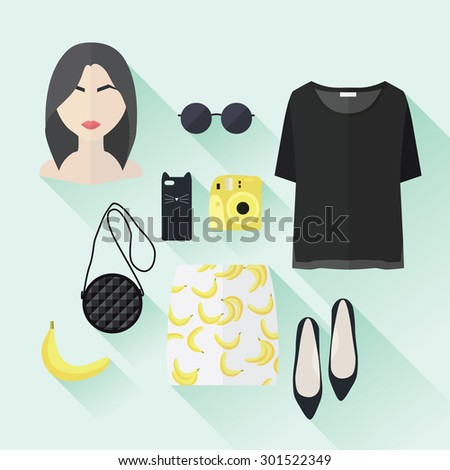 Brunette woman with bob haircut wearing glasses and yellow rainc Stock photo © deandrobot