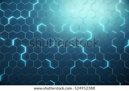 Foto stock: Abstrato · hexágono · cor · superfície · tecnologia · ruído