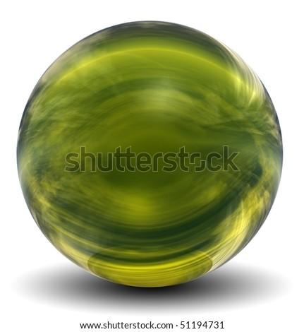 Realistyczny szkła sferze refleksji niebo Zdjęcia stock © sidmay
