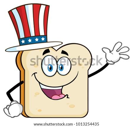 Amerykański maskotka cartoon charakter powitanie Zdjęcia stock © hittoon