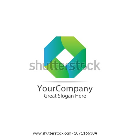lettertype letter O business logo. abstract box cube symbol logo icon template. digital, finance, ap Stock photo © taufik_al_amin